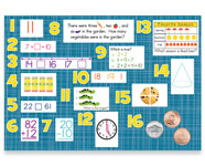 1st Grade Mountain Math Bulletin Board Kit