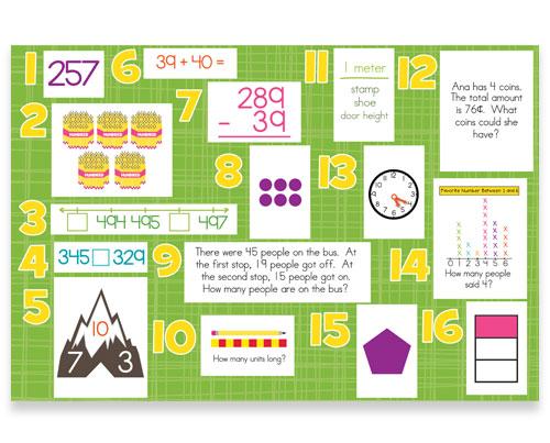 2nd Grade Common Core Math Daily Skills Bulletin Board Kit