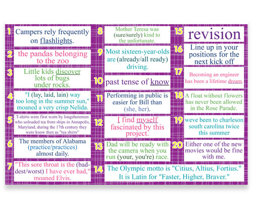 7th8th Grade Language Daily Review Bulletin Board Kit