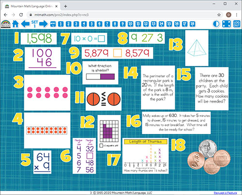 3rd Grade Math Spiral Review For Interactive Whiteboard