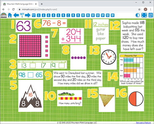 2nd Grade Common Core Math Spiral Review For Interactive Whiteboard