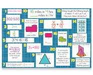 7th Grade Mountain Math Bulletin Board Kit